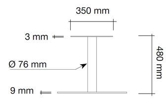 Column leg A-Brushed Stee 2