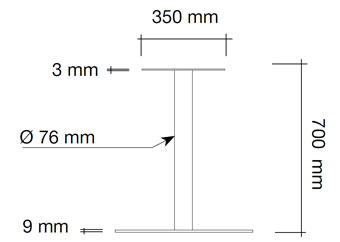 Column leg A-Brushed Stee 3