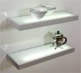 Aluminium glass shelf 1